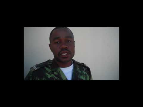 Mozambican soldiers sing about partnership with Marines