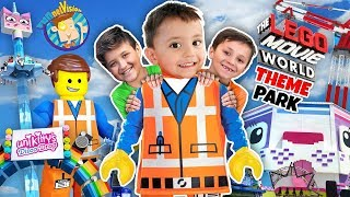 LEGOLAND LEGO MOVIE WORLD THEME PARK! Triple Decker Couch Ride! (FUNnel Family Adventure Vision)