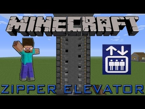 Zipper Elevator (Redstone Tutorial) :: Minecraft 1.3