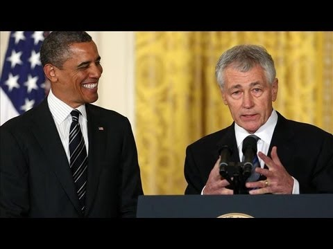 Hagel Talks About Defense Nomination