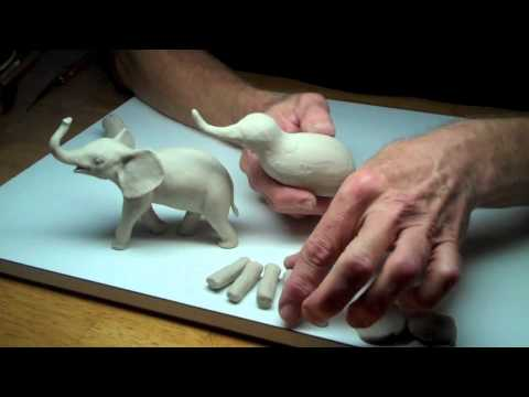 Learn Sculpting Lesson 3 Part 1 Sculpt A Baby Elephant