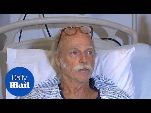 Darryl Clinton survives violent strike from lava bomb - Daily Mail