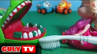 Chibi Doll collection brushing crocodile biting hands infant tooth decay | girls toys