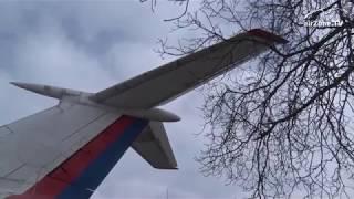 """Tupolev TU-154M """"Naganský expres"""" na značkách (www.airzone.tv)"""