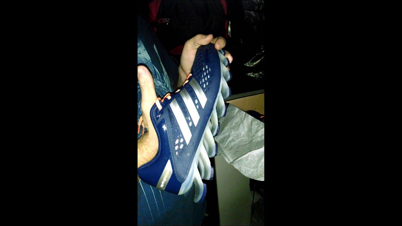 Unbox Adidas springblade razor Azul com Laranja - YouTube