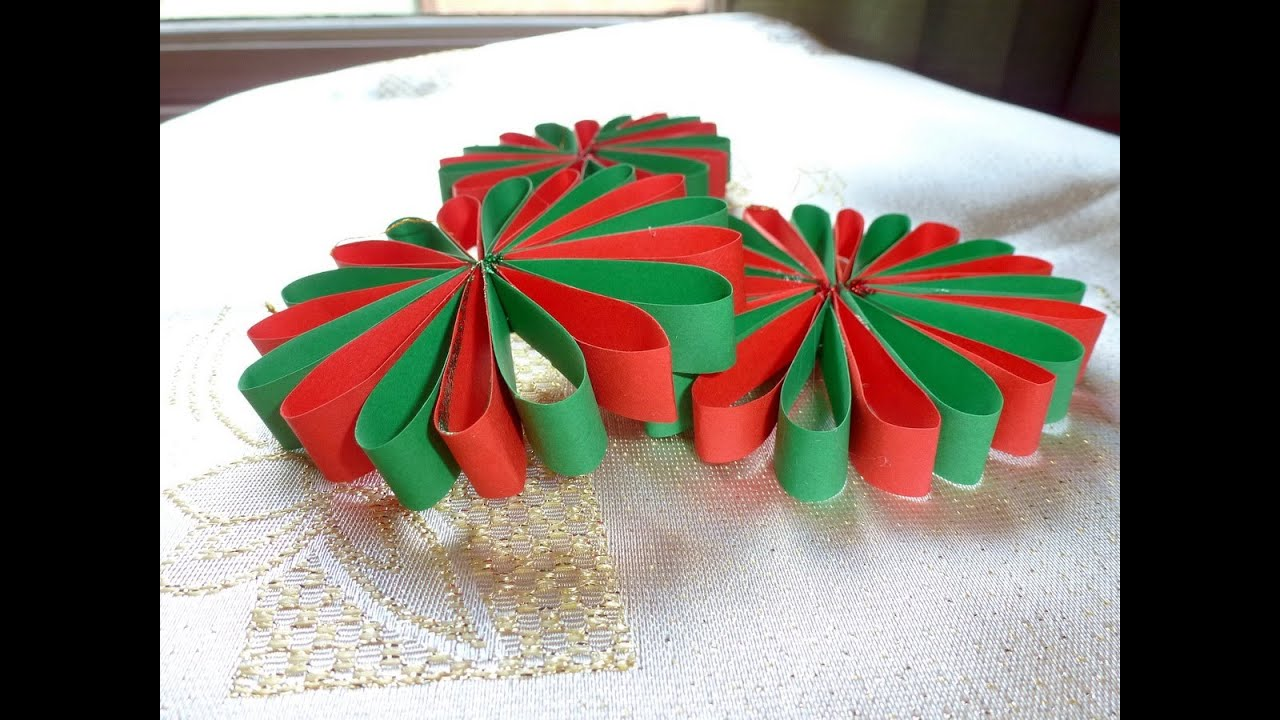 Игрушки на елку из бумаги своими руками