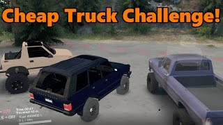 Spin Tires CHEAP TRUCK CHALLENGE