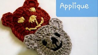 Crochet Bear Applique