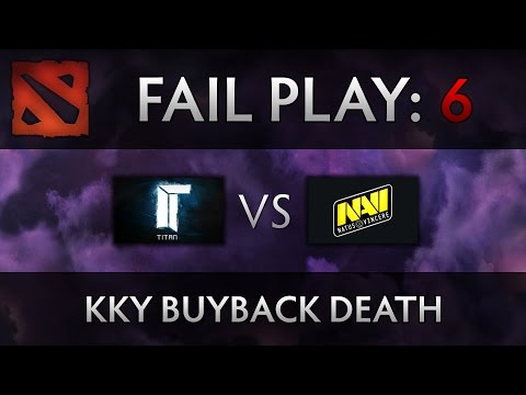 Dota 2 TI4 Fail Play - Titan vs Na'Vi - kky buyback death