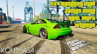 GTA 5 Real Drift, Wheelie, James Bond, 4x4 Handling Mod v2