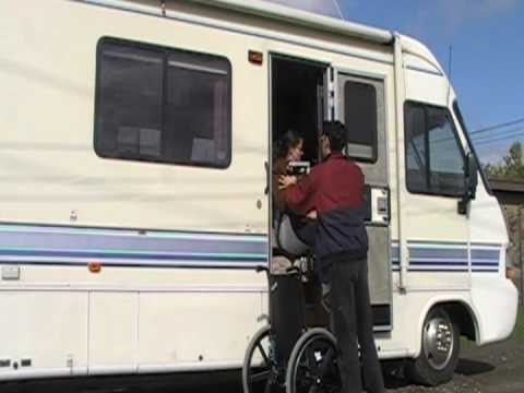 Unique RV Auto Lift Two Shower Seat Wheelchair Lift