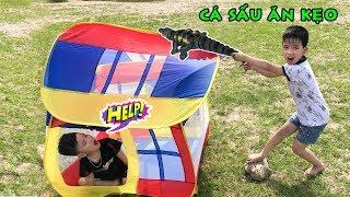 Trò Chơi Cá Sấu Săn Kẹo ❤ Bé Vui Cắm Trại Phần 1 ❤ Min Min TV Minh Khoa