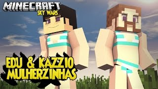 Minecraft: EDU & KAZZIO VIRARAM MULHER? - SKY WARS ‹ AM3NIC ›