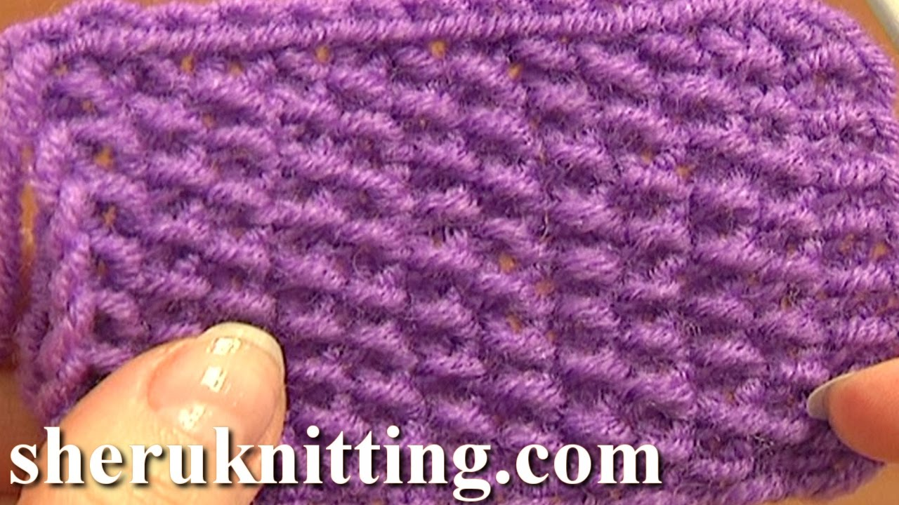Knitting Easy Stitches : Knitting stitch pattern for beginners tutorial