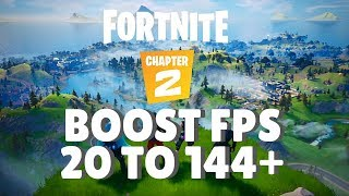 Fortnite Chapter 2 - How to BOOST FPS and Increase Performance / STOP Stuttering on any PC