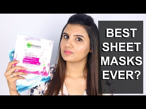 NEW GARNIER SHEET MASKS REVIEW | Deepesha Beauty