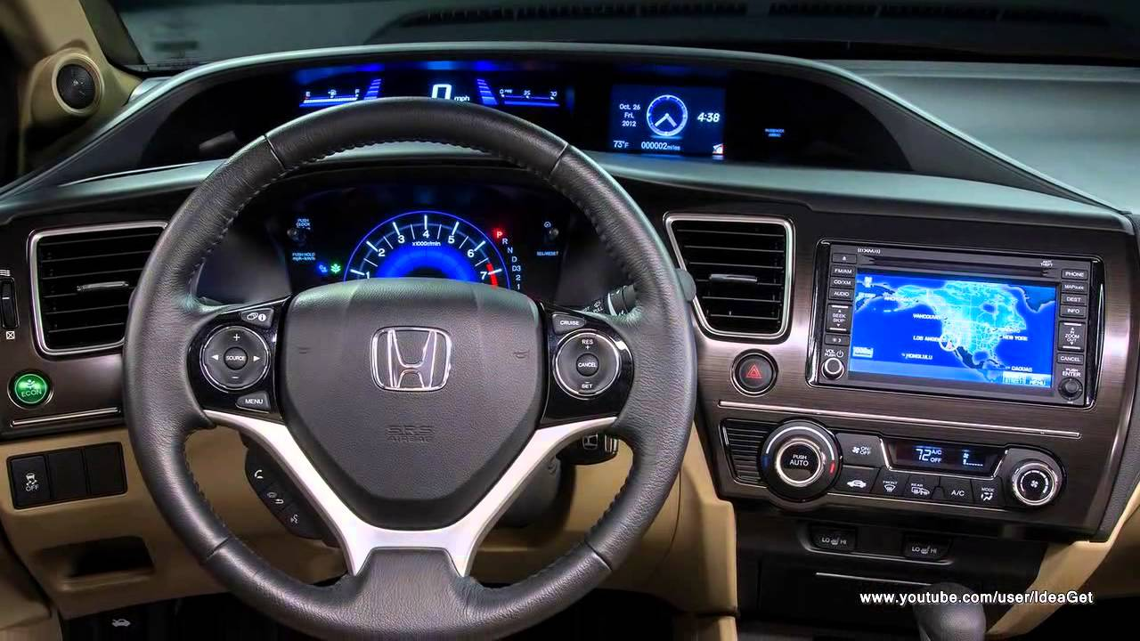 2013 New Honda Civic Sedan Interiors and Exteriors - YouTube