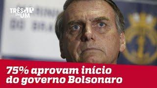75% dos brasileiros aprovam primeiras medidas de Jair Bolsonaro