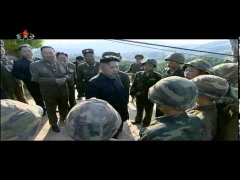 Kim Jong Un visits DMZ and looking into South Korea