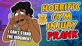 Horrific Gym Injury Prank - Ownage Pranks