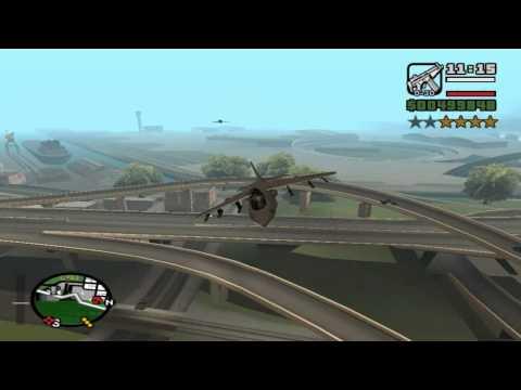 Gta San Andreas:Como voar com o jato Hydra