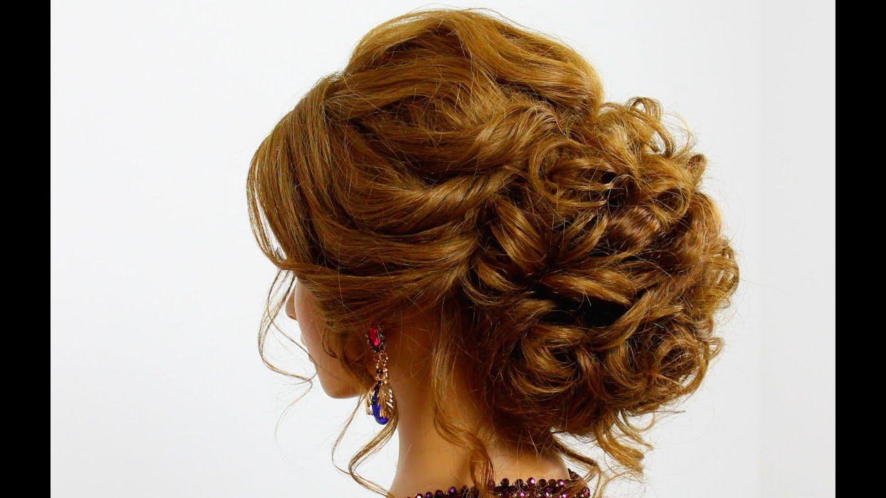 Все вечерних причесок на среднюю длину волос