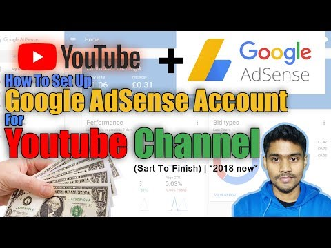 How To Set Up Google AdSense Account For Youtube Channel (Sart To Finish)   *2018 new *✅