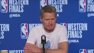 Steve Kerr Postgame Interview - Game 1 | Trail Blazers vs Warriors | 2019 NBA Playoffs