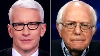 Bernie Sanders IS DONE WITH STUPID QUESTIONS, and Anderson Cooper Happens To Ask One