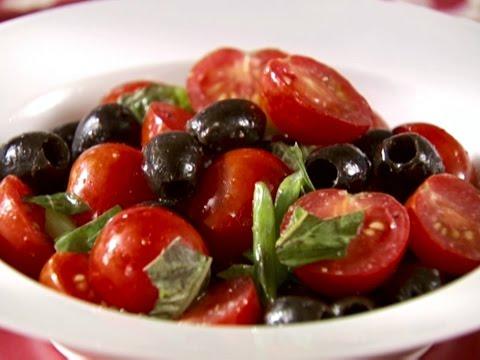 Tasty Olive, Tomato Raw Vegan Salad Recipe!