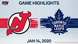 NHL Highlights | Devils vs Maple Leafs – Jan. 14, 2020