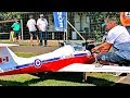 AMAZING BIG RC TURBINE MODEL JET CT-114 TUTOR FLIGHT DEMONSTRATION