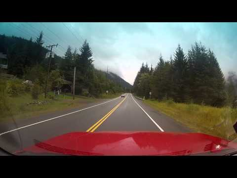 Petersburg Alaska drive out road + crash