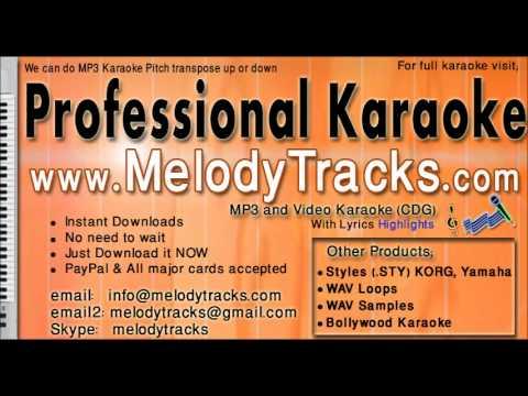 aankhon ke sagar - shafqat amanat karaoke - www.MelodyTracks...