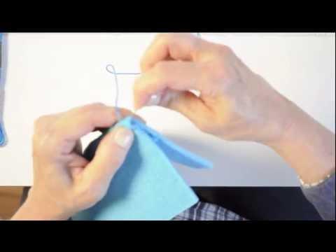 punto festone doppio per cucire astucci in feltro