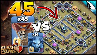 Destroy This Anti-2 Star Base with 45 Loons! Easy Internet Base | Clash of Clans
