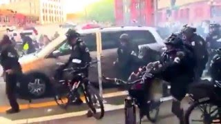 Anti-Capitalist protesters become violent in Seattle on May Day