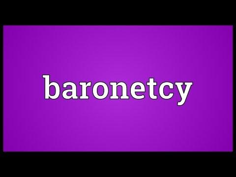 Header of baronetcy