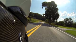 BMW K1300s Two Brothers Racing Carbon Black GoPro Hero3 Ilmberger Carbonparts