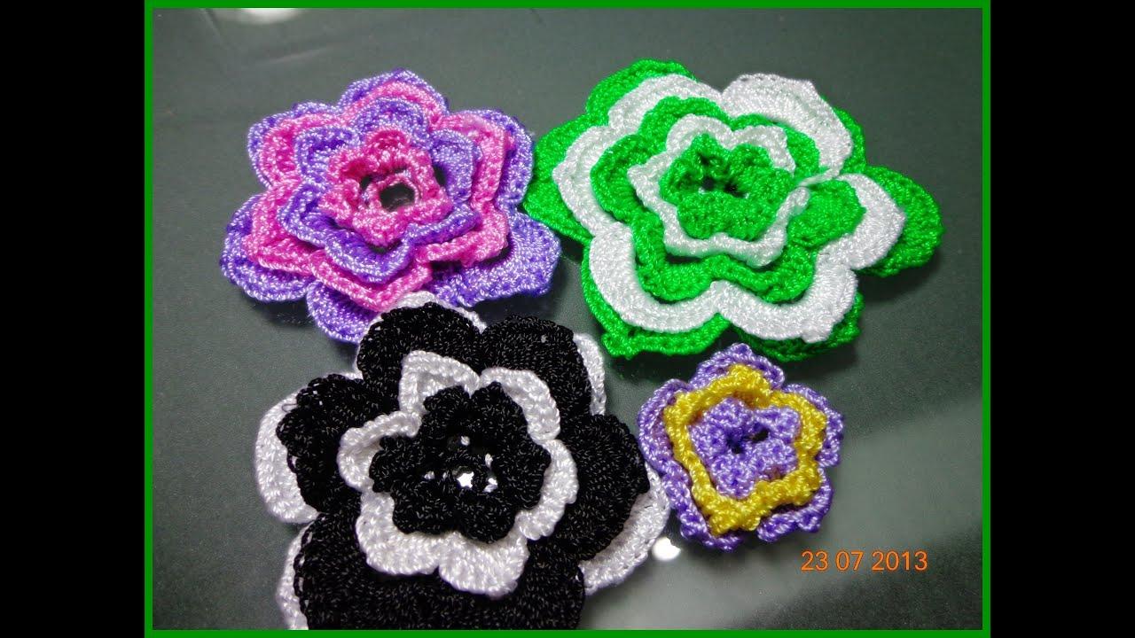 Flores tejida a crochet paso a paso youtube - Como hacer cosas de ganchillo ...