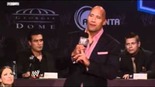 WWE WrestleMania XXVII Press Conference  The Rock