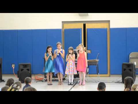 Beatrice Banaszak performing in the school talent show 5/30/13