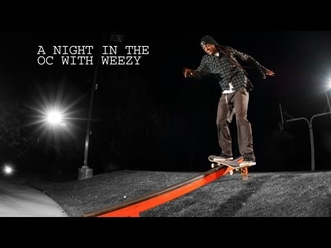Lil Wayne Skateboards in the Streets with Greg Lutzka and Crew