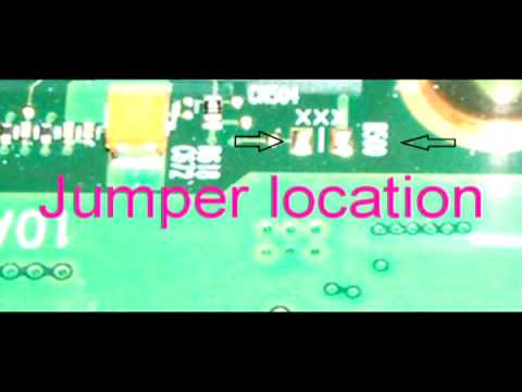 Toshiba Satellite  L305D A205 A215 XXX B500 Jumper location