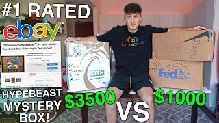 $3500 eBay Mystery Box VS $1000 eBay Mystery Box! (#1 Rated!)