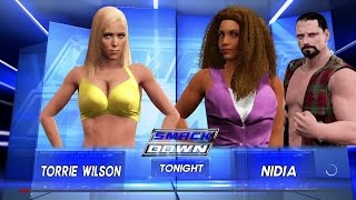 WWE 2k17 Torrie Wilson vs. Nidia (PS4)