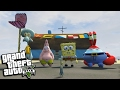 "GTA 5 Mods - SPONGEBOB'S ""KRUSTY KRAB"" w SQUIDWARD, MR KRABS & PLANKTON (GTA 5 PC Mods Gameplay)"