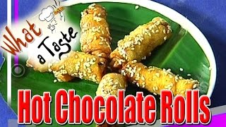 Hot Chocolate Rolls Recipe || What A Taste || Vanitha TV