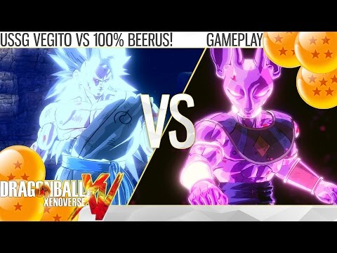Dragon Ball Xenoverse - Ultimate Super Saiyan God Vegito vs 100% Beerus! (Gameplay)
