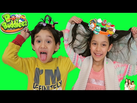 KIDS CRAZY HAIR with B Buddieez Wearable Collectibles fun for kids